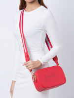 COACH 75818 Jes Leather Crossbody Bright Red