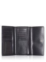 COACH 88024 Signature Trifold Wallet Brown Black
