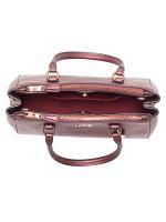 COACH 67247 Mini Surrey Leather Carryall Metallic Wine