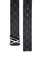 LOUIS VUITTON Men Monogram Damier Graphite 40mm Belt 120 48 Grey