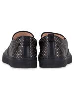 GUCCI Guccy Print Slip On Sneakers Black Sz 8.5