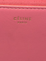 CELINE Bi-color Leather Zip Wallet Bordeaux Pink Rust