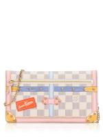 LOUIS VUITTON Damier Azur Trompe L\'oeil Trunk Weekend Pochette Limited Edition