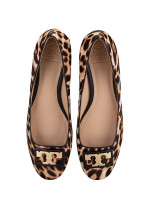 TORY BURCH Gigi Calf Hair Pumps Natural Leopard Sz 8.5