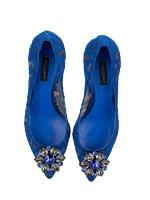 DOLCE & GABBANA Belluci Kitten Heels Blue Sz 37
