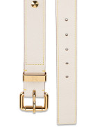 LOUIS VUITTON Suhali Studded Belt White