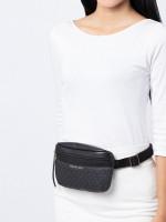 MICHAEL KORS Signature Fanny Belt Bag Black