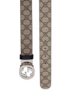 GUCCI GG Supreme Interlocking G Belt Beige Black