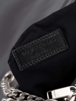 YSL Matelasse Medium Loulou Chain Bag Pearl Grey