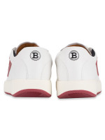 BALLY Men New Competition Sneakers White Red Sz 42