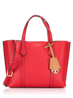 TORY BURCH Perry Small Triple Compartment Tote Brilliant Red