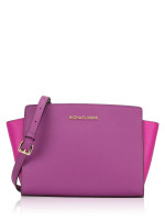 MICHAEL KORS Selma Medium Messenger Pomegranate Multi