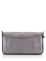 COACH 40649 Signature Leather Dinky Crossbody Metallic Graphite