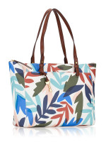 FOSSIL ZB7446124 Rachel Floral Top Zip Tote White Multi