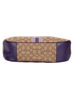 COACH 39042 Signature Jacquard Stripe Hobo Purple Multi