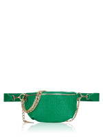 STEVE MADDEN Brandie Leather Belt Bag Green