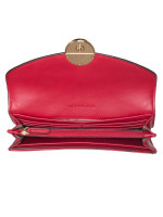 MICHAEL KORS Fulton Leather Large Flap Continental Wallet Scarlet