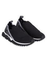 DOLCE & GABBANA Sorrento Logo Sneakers Black Sz 39