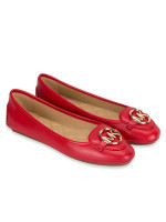 MICHAEL KORS Lillie Leather Flats Bright Red Sz 10