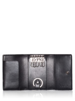 COACH 78675 Signature 5 Ring Key Holder Tan Black