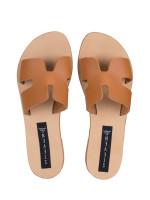 STEVE MADDEN Greece Leather Slide Sandal Cognac Sz 6