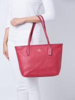 COACH 83857 Crossgrain Leather Zip Tote True Red