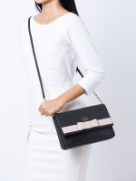 KATE SPADE Kirk Park Saffiano Veronique Black Warm Beige