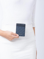 MICHAEL KORS Gifting Monogram Money Clip Card Case Set Admiral Pale Blue