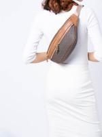 MICHAEL KORS Kenly Monogram Medium Waist Pack Brown Luggage