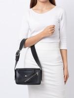 CELINE Medium Case Biker Shoulder Bag Black Sunflower