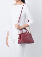 COACH 31485 Signature Patent Leather Mini Sage Cherry