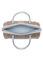 COACH 83607 Signature Rowan Satchel Khaki Pale Blue