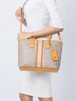 TORY BURCH Gemini Link Canvas Small Tote Daylily