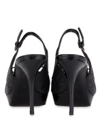 DIOR Cannage Quilted Slingback Heels Black Sz 38