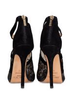 JIMMY CHOO Vantage Glove Sandals Black Sz 37