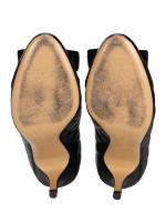 SALVATORE FERRAGAMO Carla Quilted Leather Pumps Black Sz 6