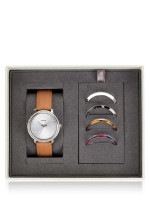 FOSSIL BQ3570 Lexie Luther Leather Strap Gift Set Camel