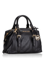 MICHAEL KORS Ginger Leather Small Duffle Satchel Black