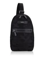 MICHAEL KORS Men Kent Nylon Sling Pack Camo Black Multi