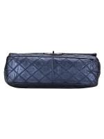 CHANEL 2.55 Reissue 228 Flap Bag Metallic Blue