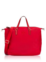 TORY BURCH Tilda Nylon Slouchy Satchel Brilliant Red