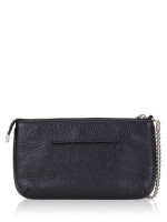 COACH 79890 Coach Script Large Wristlet Chain Black