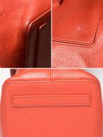 FURLA Perla Medium Leather Satchel Dark Orange