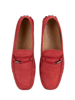 TOD'S Men Morsetto Club New Gommini Loafer Red Sz 8