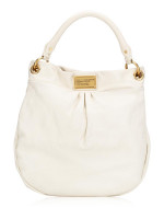 MARC JACOBS Classic Q Hillier Hobo Broken White