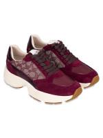 COACH C152 Signature Tech Runner Sneakers Wine Sz 7