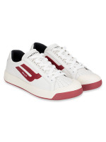 BALLY Men New Competition Sneakers White Red Sz 42.5