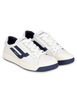 BALLY Men New Competition Sneakers White Blue Sz 41.5