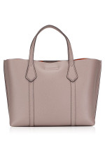 TORY BURCH Perry Small Triple Compartment Tote Gray Heron