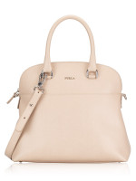 FURLA Victoria Medium Dome Satchel Beige
